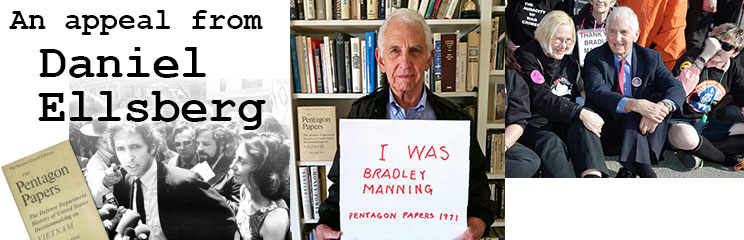 An appeal from Daniel Ellsberg