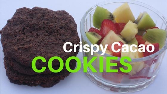 Crispy cacao cookies