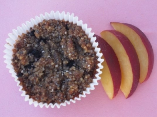 These chia almond muffins are a delicious and portable snack.