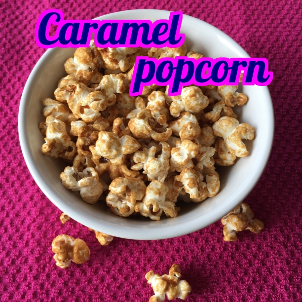 Crunchy and sweet, this caramel popcorn is delicious.