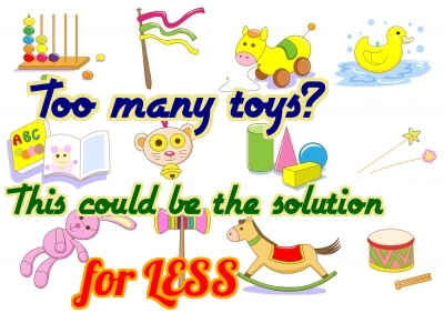 Overwhelmed by too many toys? This could be the solution!