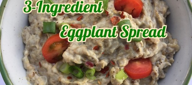 3-Ingredient eggplant spread - quick and delicious.