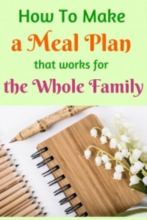 How to make a meal plan that is easy, doable, and helps you plan delicious recipes.