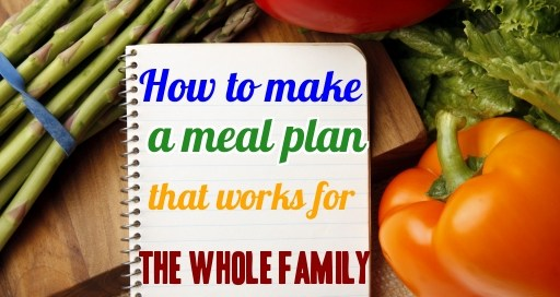 Step-by-step instructions on how to make a meal plan for your whole family.