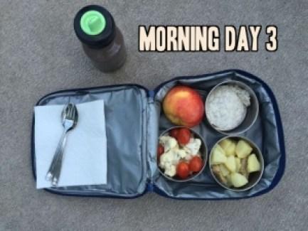 School lunch day 3 morning