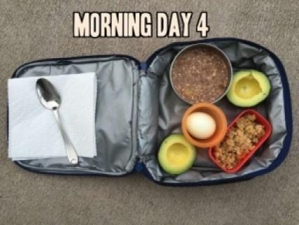 School lunch day 4 morning