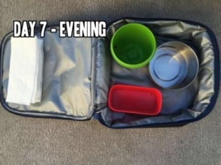 Day 7 evening school lunch idea