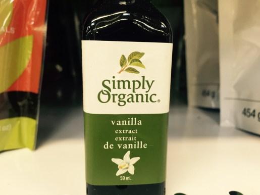 Organic vanilla extract