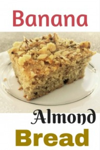Banana almond bread - the perfect snack for little hands