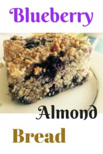 Blueberry almond bread naturally sweetened with blueberries