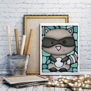Giveaway - Raccoon print