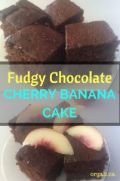 Fudgy and delicious banana cake? Check! Sweet and healthy dessert? Check! Make this Fudgy Chocolate Cherry Banana Cake now or save it for later. Your family will go crazy for it.