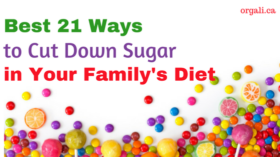 Ways to cut down sugar