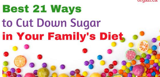 Ways to cut down sugar