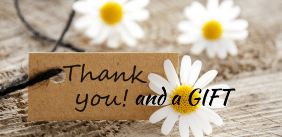 Thank you and a gift