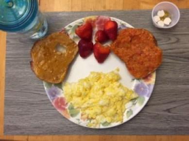 Giant breakfast my son eats