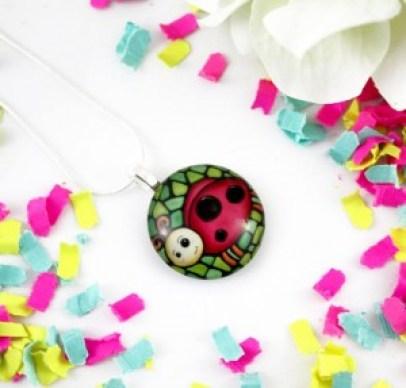 Kahy Lycka ladybug pendant