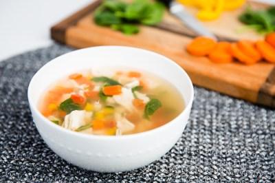 Delicate Carrot Leek Soup