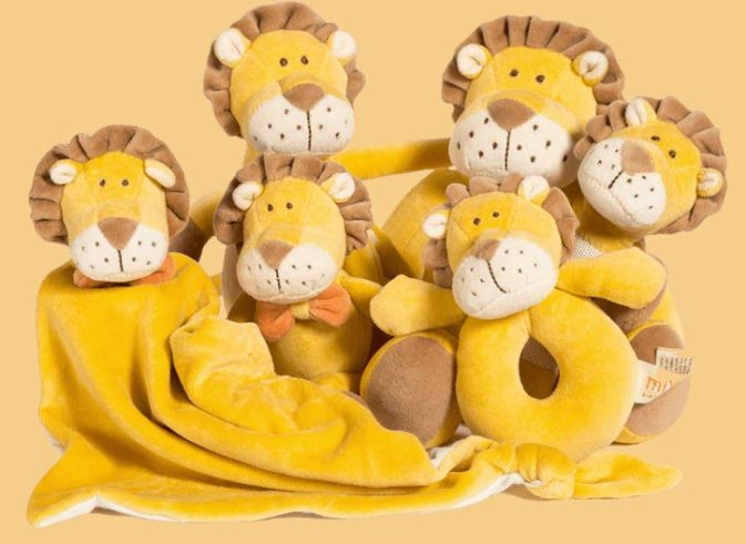 Leo1 300x219 - Who is Leo the Lion? 7 Different Organic Cotton Lion Items Available from miYim®