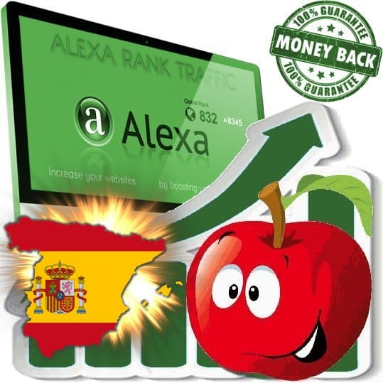 Buy Alexa Rank Traffic (Spain)