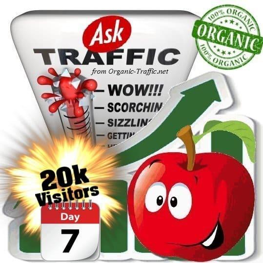 ask organic traffic visitors 7days 20k
