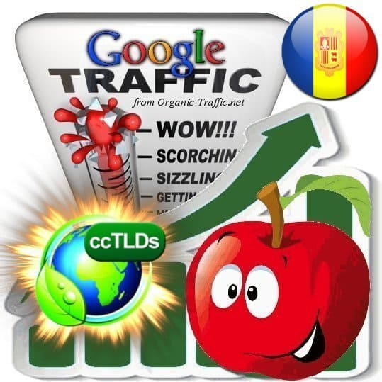 buy google andorra organic traffic visitors