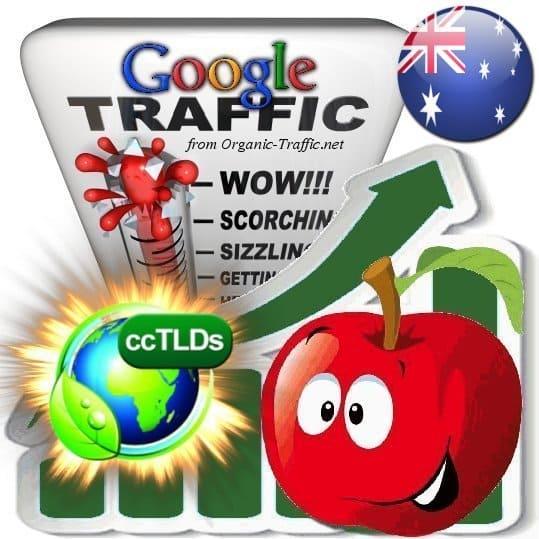 buy google australia organic traffic visitors