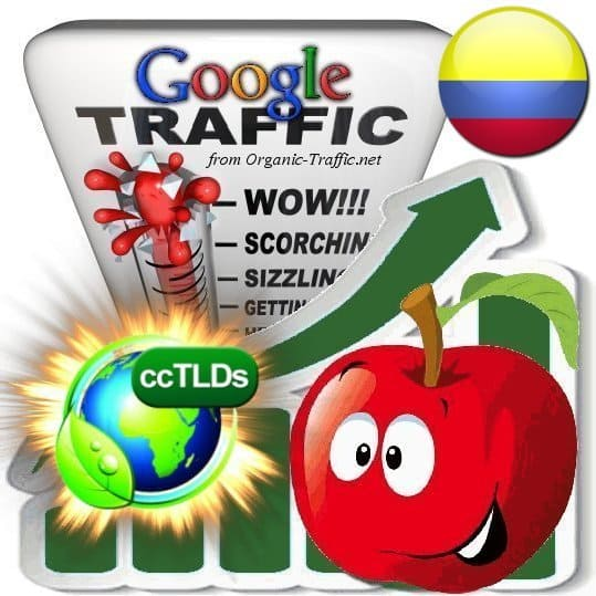 buy google colombia organic traffic visitors