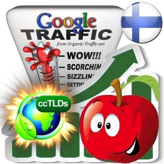 buy google finland organic traffic visitors
