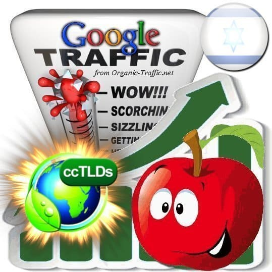 buy google israel organic traffic visitors