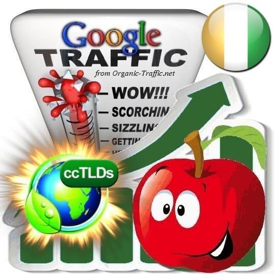 buy google ivory coast organic traffic visitors