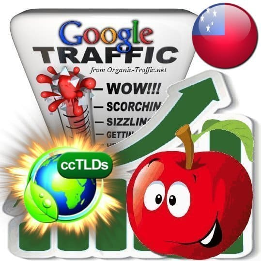buy google samoa organic traffic visitors