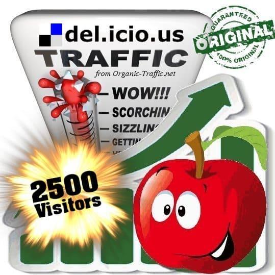 buy 2500 delicious social traffic visitors