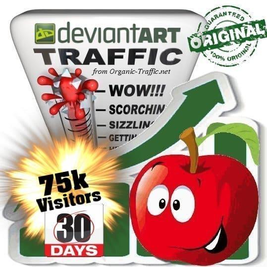 buy 75.000 deviantart social traffic visitors in 30 days