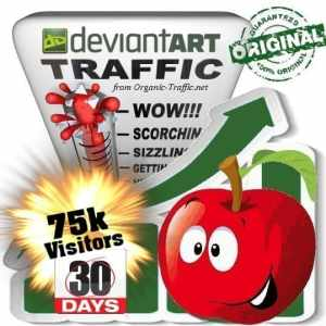 buy 75.000 deviantart social traffic visitors in 30 days