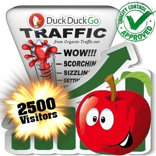 duckduckgo search traffic visitors 2500