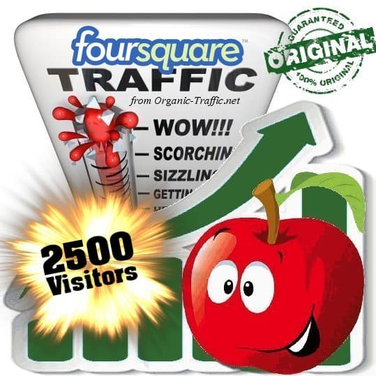 buy 2500 foursquare social traffic visitors