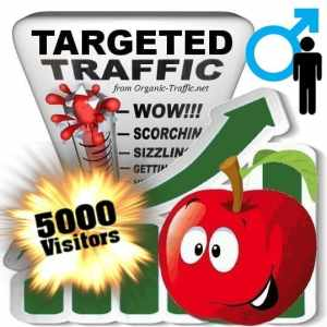buy 5000 gender targeted traffic visitors - Male