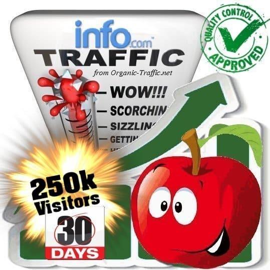 info.com search traffic visitors 30days 250k