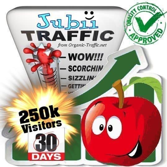 jubii.dk search traffic visitors 30days 250k
