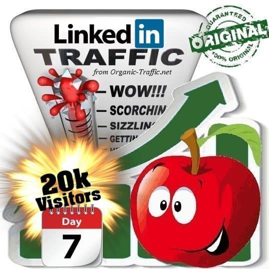 buy 20k linkedin social traffic visitors 7 days