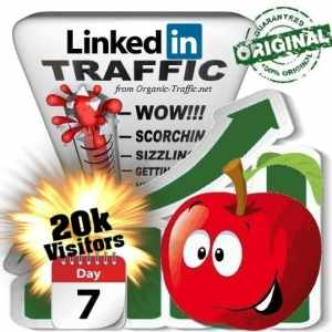buy 20k linkedin social traffic visitors 7 days