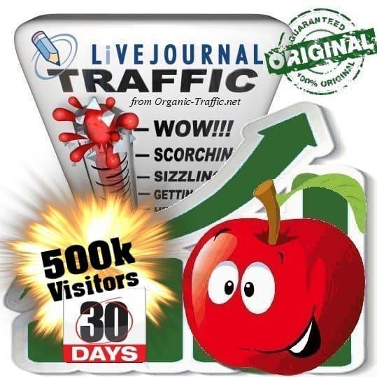 500k livejournal social traffic visitors in 30 days