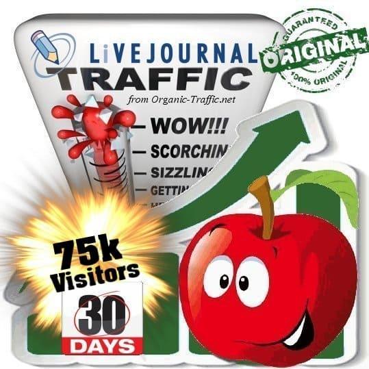 buy 75k livejournal social traffic visitors in 30 days