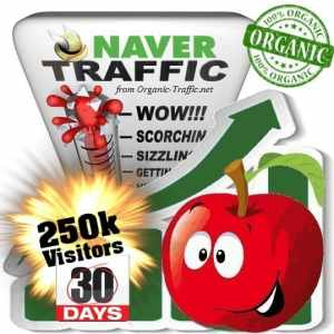 buy 250k naver organic traffic visitors for 30days
