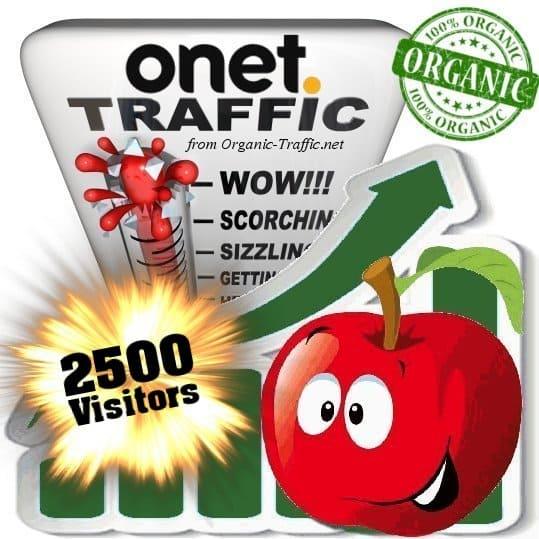 2500 onet organic traffic visitors