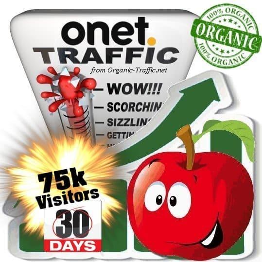 onet organic traffic visitors 30days 75k