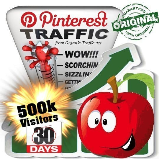 buy 500k pinterest social traffic visitors 30 days