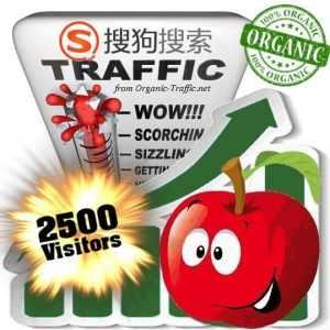 2500 sogou organic traffic visitors