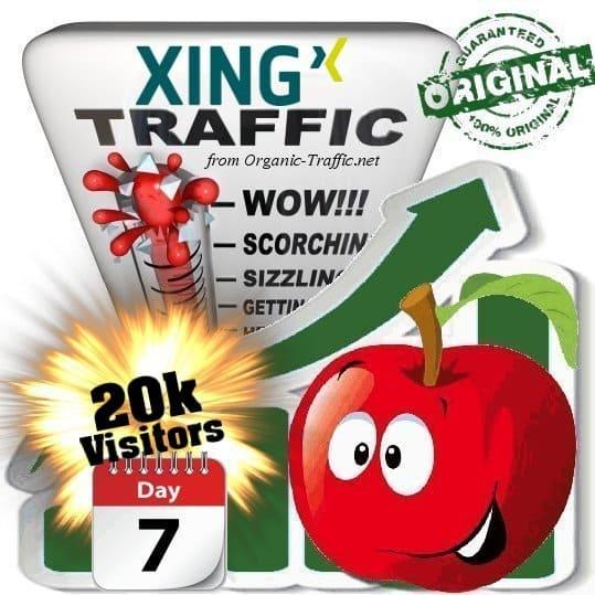 buy 20k xing social traffic visitors in 7 days